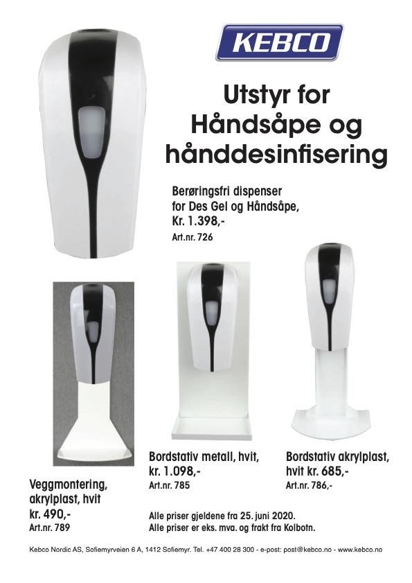 Hånddesinfisering dispenser